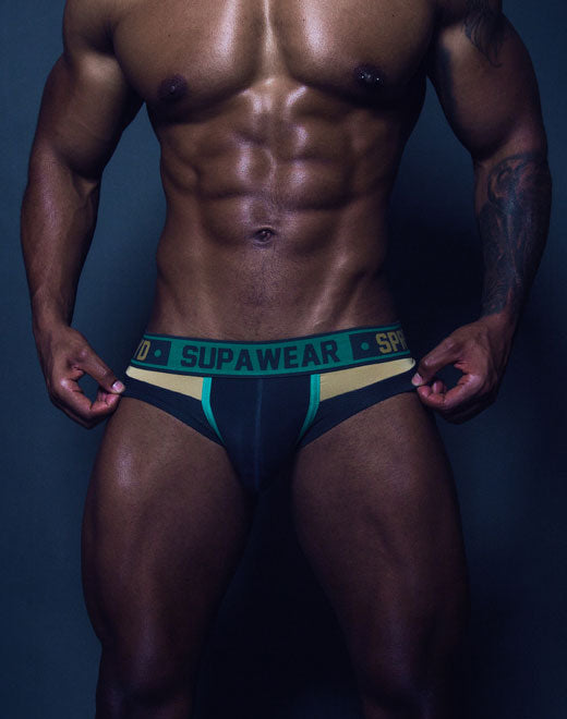 Cyborg Brief Underwear - Cyber Green