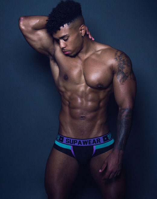 Cyborg Brief Underwear - Cyber Purple