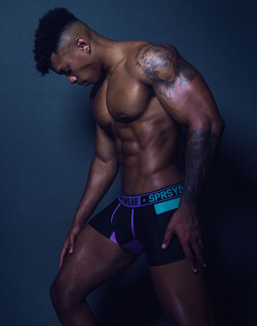 Cyborg Trunk Underwear - Cyber Purple