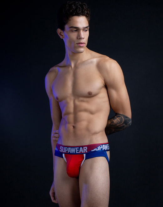 Turbo Jockstrap Underwear - Turbo Red