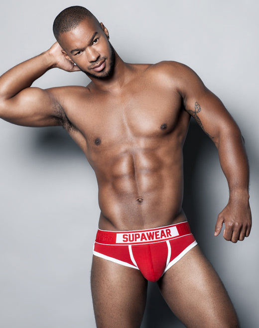 Crimson Brief Underwear - Red
