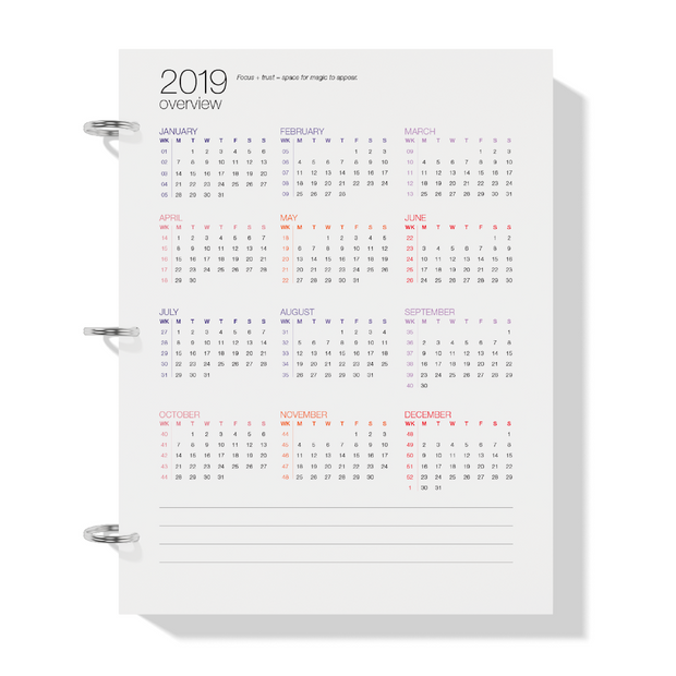 The Desire Map Planner 2019 Weekly Printable