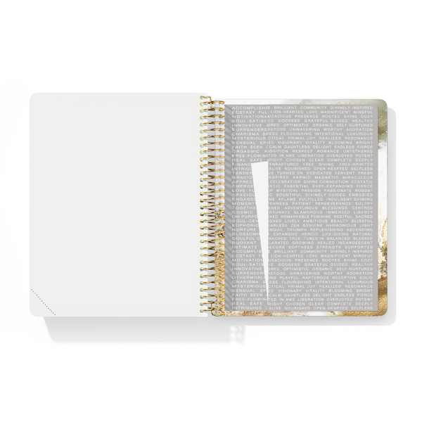 The Desire Map Planner Undated Edition (Gold and White)