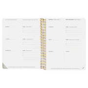The Desire Map Planner 2019 Undated Edition (Gold and White)