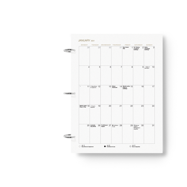 2021 Daily Printable Desire Map Planner