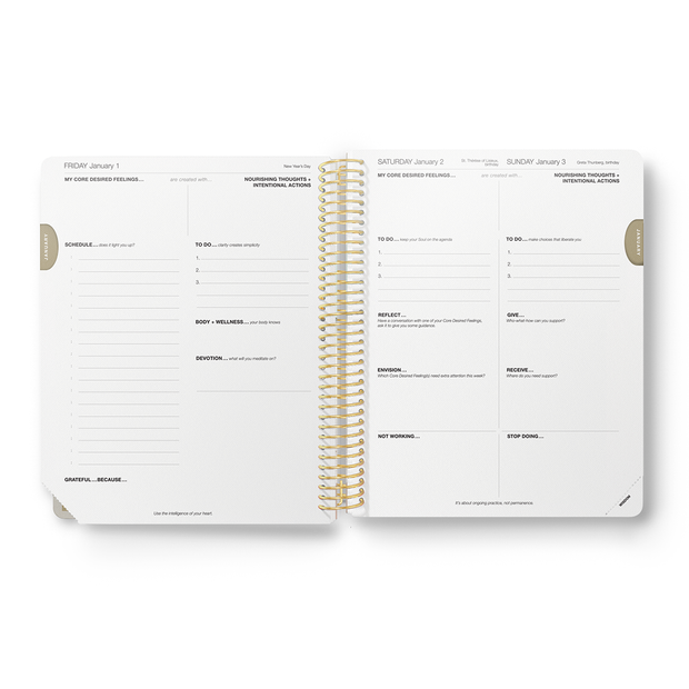 2021 Daily Desire Map Planner (Earth Sky)