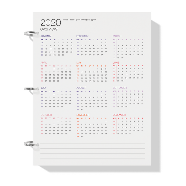 The Desire Map Planner 2020 Printable - Daily Edition