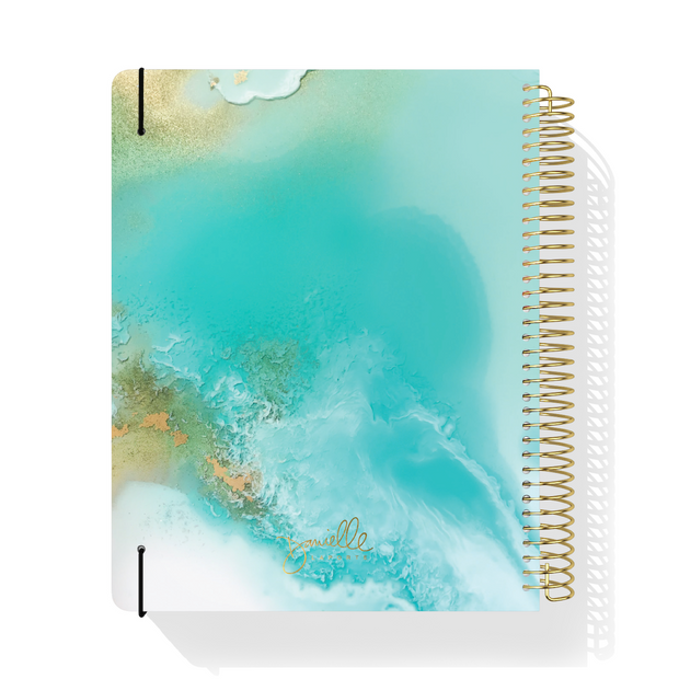 UNDATED WEEKLY Desire Map Planner + Program (Art Teal w/type)