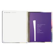 UNDATED WEEKLY Desire Map Planner + Program (Art Lavender w/script)