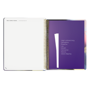 UNDATED WEEKLY Desire Map Planner + Program (Art Lavender w/type)