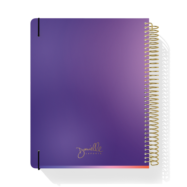 UNDATED WEEKLY Desire Map Planner + Program (Purple w/script)