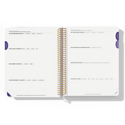 2020 WEEKLY Desire Map Planner + Program (Purple w/script)