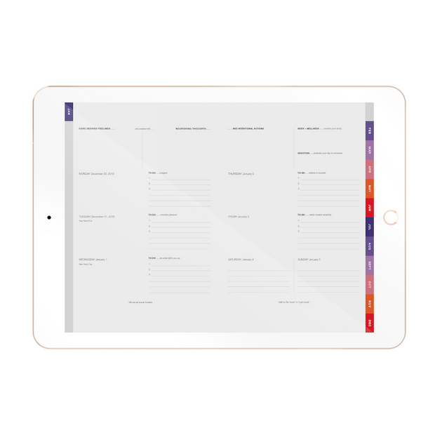 The Desire Map Planner 2020 Interactive Digital (iPad) - Weekly Edition