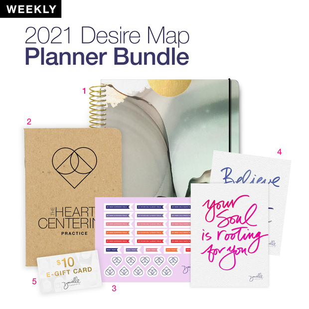LIMITED EDITION Desire Map Planner Expansion Pack (Weekly Earth Sky)