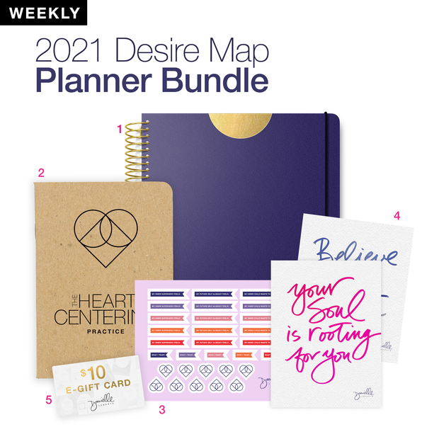 LIMITED EDITION Desire Map Planner Expansion Pack (Weekly Steady Indigo)