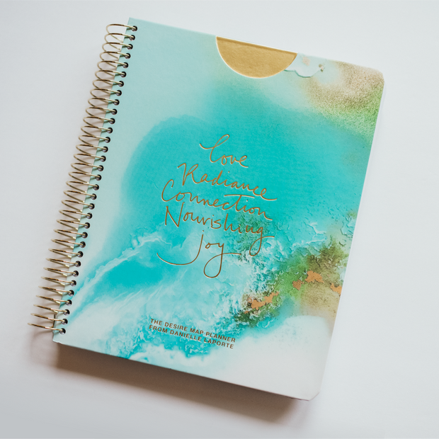 UNDATED WEEKLY Desire Map Planner + Program (Art Teal w/script)