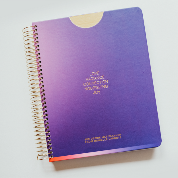 UNDATED WEEKLY Desire Map Planner + Program (Purple w/type)