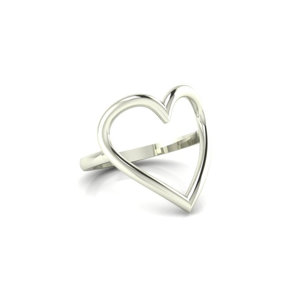 The Heart Centered Ring (silver)