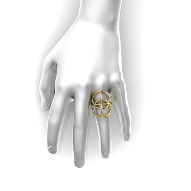 The Vesica Pisces Ring (gold)