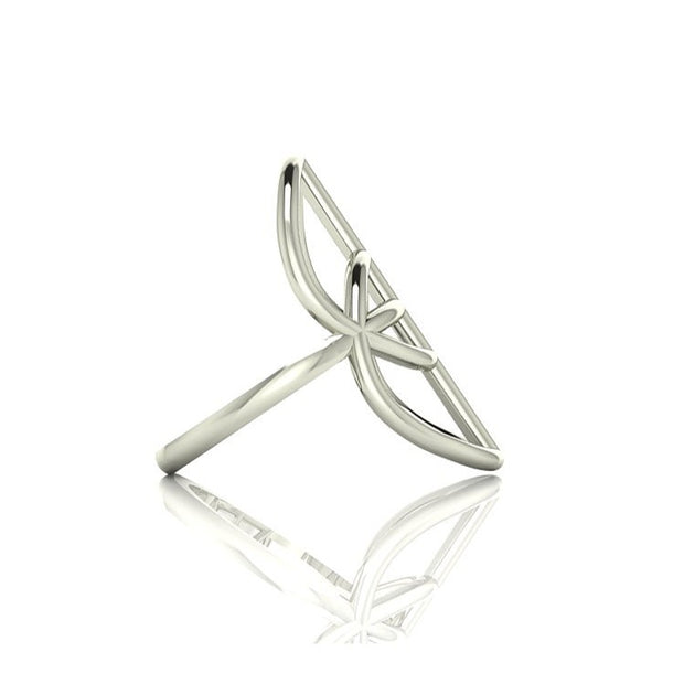 The Vesica Pisces Ring (silver)