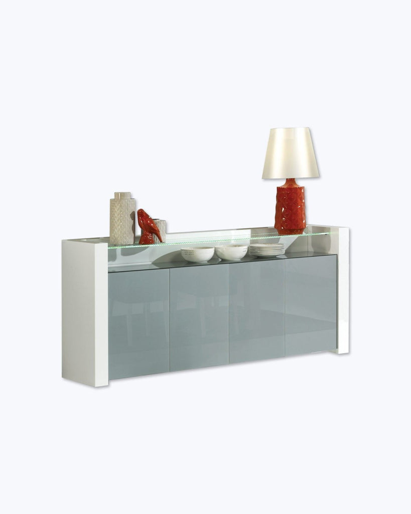Paris Glass Sideboard with LED feature lighting