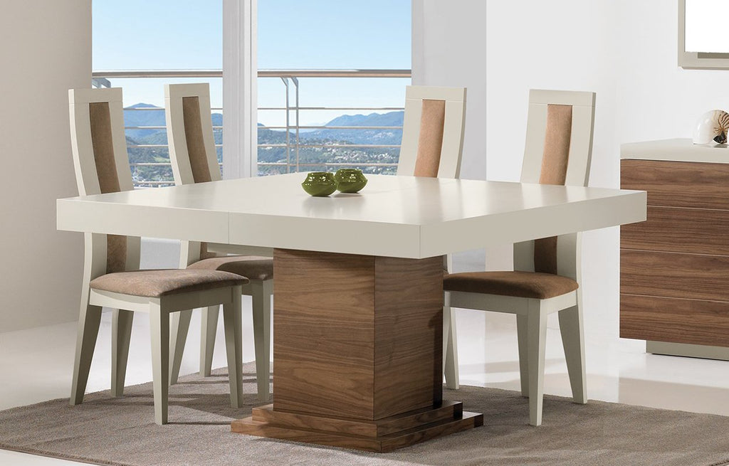 Oporto high gloss extendable dining table. 8-10 seater dining table. Oporto high back Dining Chairs.