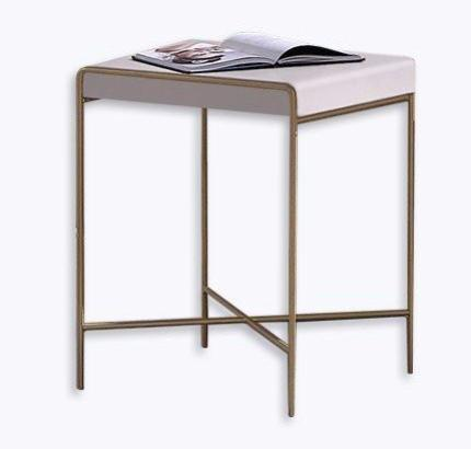 Azores Side Table in Lacquered Wood with Gold Legs
