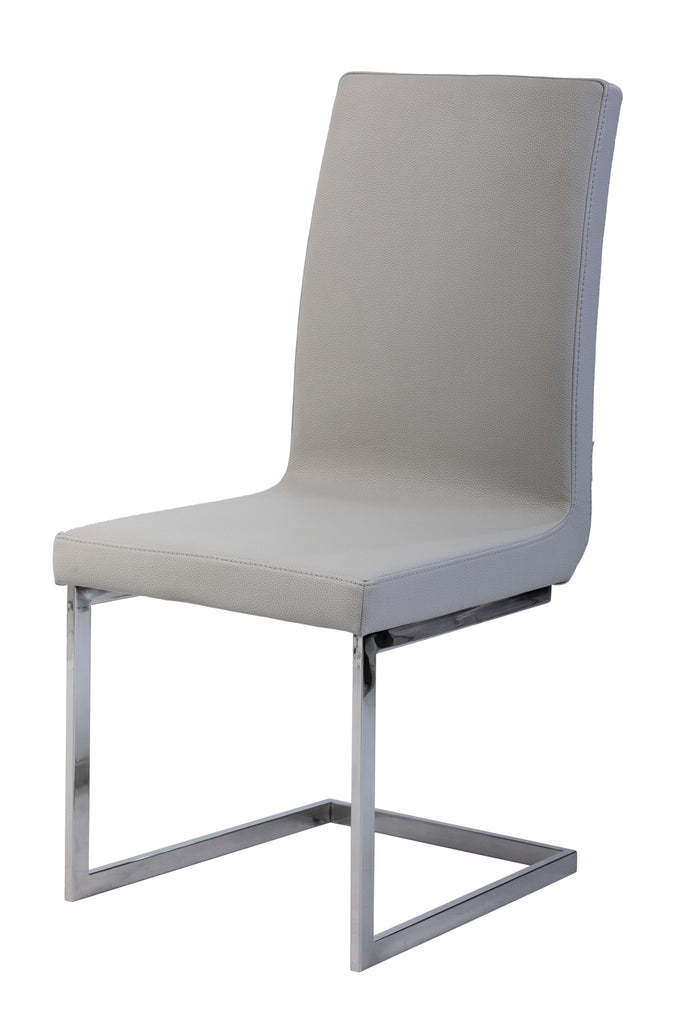 Londres designer Dining Chairs with stainless steel legs and laced up back.