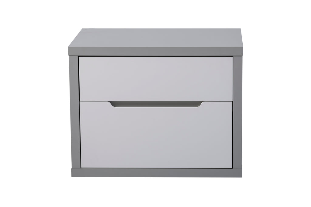 Modern Viena 2 drawer pedestal, easy-glide drawers.