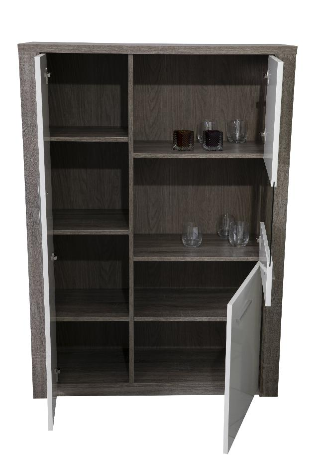 Paris Oak and white bar cabinet