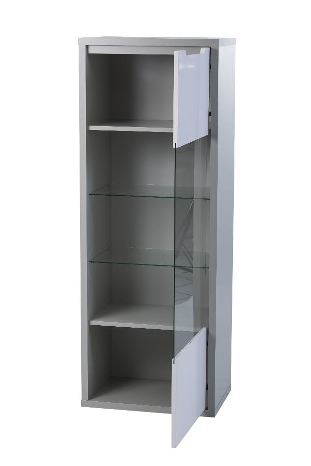 Viena modern grey and white upright shelf.