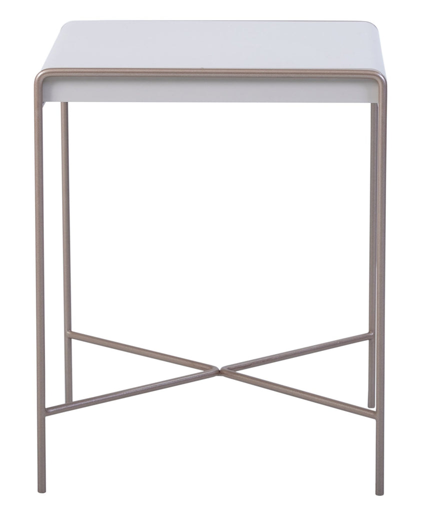 Londres high gloss side table with gold lacquered legs