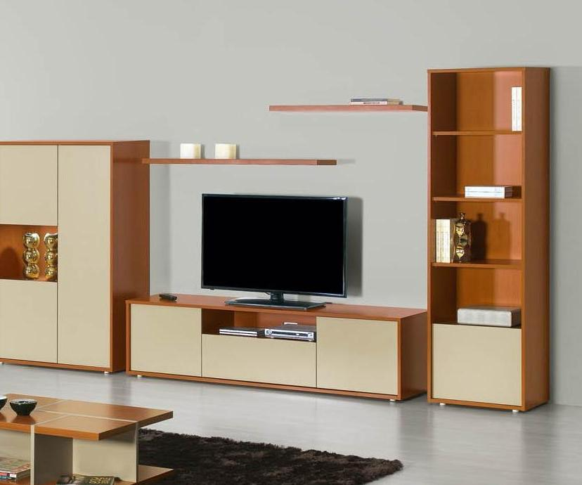 Milan Cherry Wood And Cream TV Stand