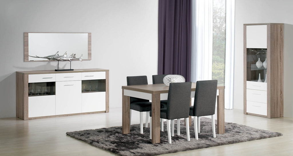 The Paris extendable dining table and sideboard.