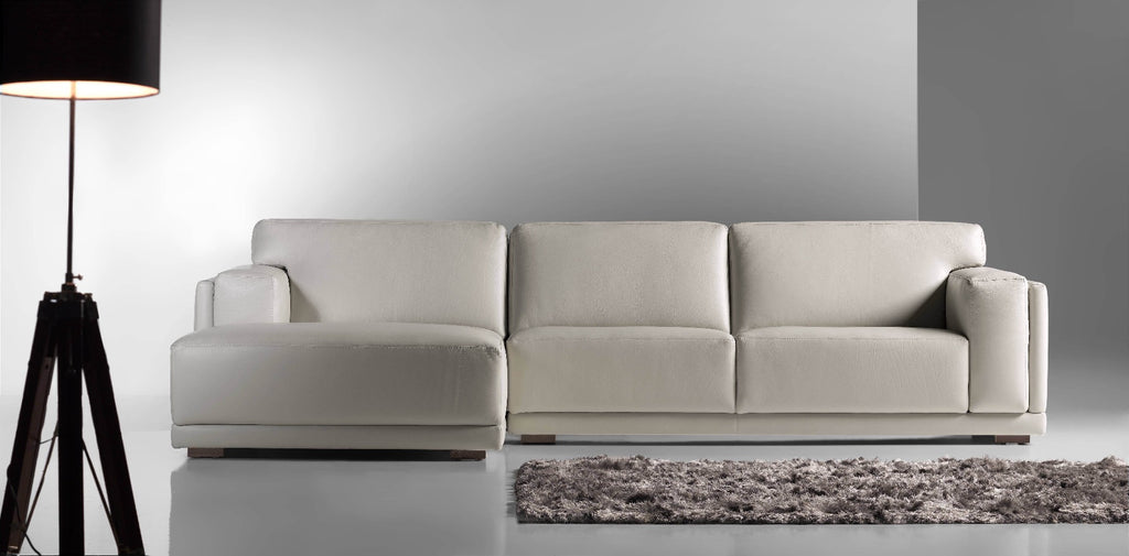 Matisse L-shape sofa in. *Actual Sofa colour varies from product photo - please see Leather sample photo