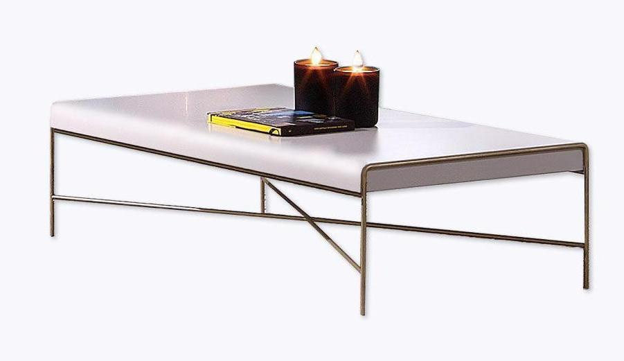 Azores Designer Coffee Table in High gloss lacquer and metallic feet