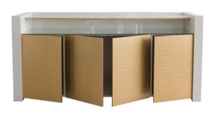 ParisLuxx  Sideboard with patterned gold doors