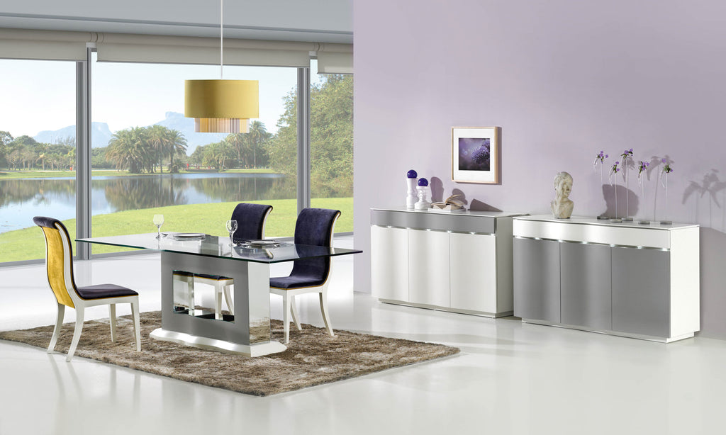 Luxury Viena dining room set, dining table, dining chairs and sideboards.