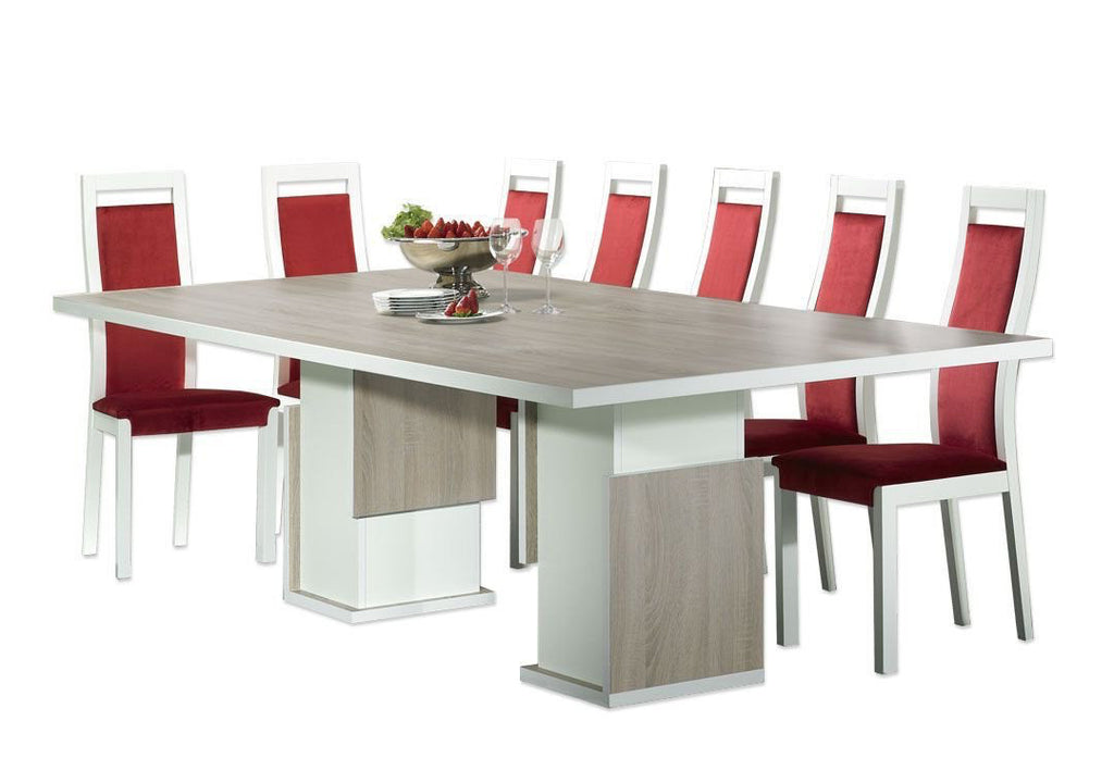 Baia 2.2m dining table in oak. Modern dining table.