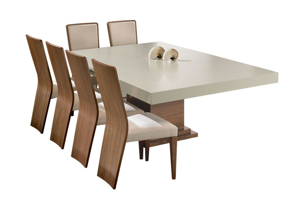 Oporto luxury high gloss extendable dining table. 8 seater dining table.