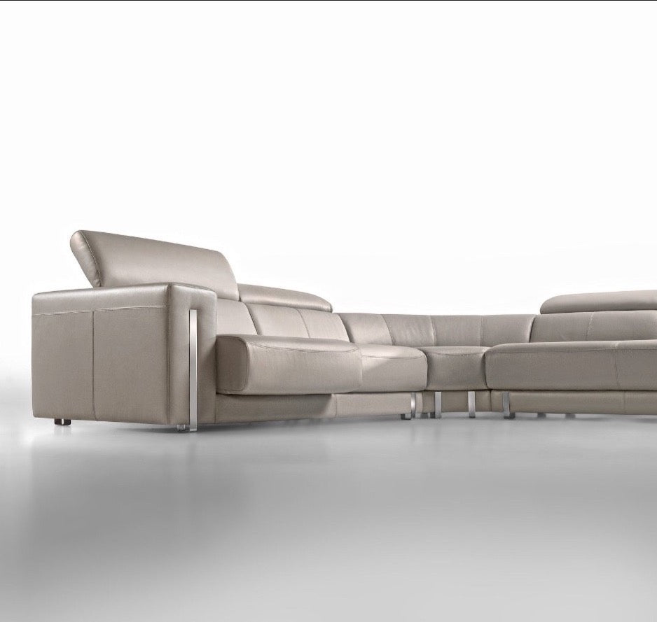 Walter 3+3 Person  Corner Sofa & matching Coffee Table- with built in Docking Sound  station *Actual sofa configuration varies from Photos shown  **Actual Sofa colour varies from product photo - please see Leather sample photo