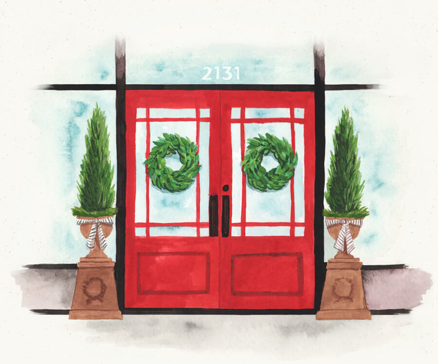 Illustration of Red Door Home Store