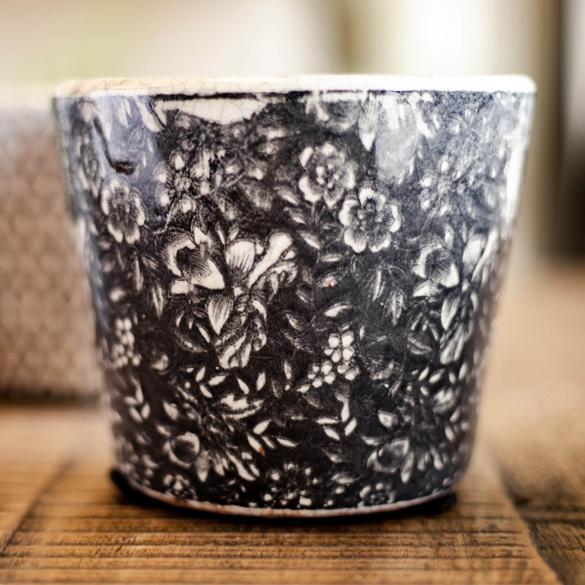 Black & White Patterned Planter