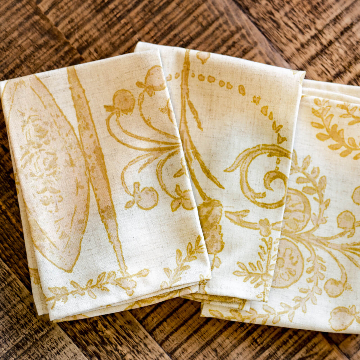 Red and Yellow Napkins French Country Napkins Vence