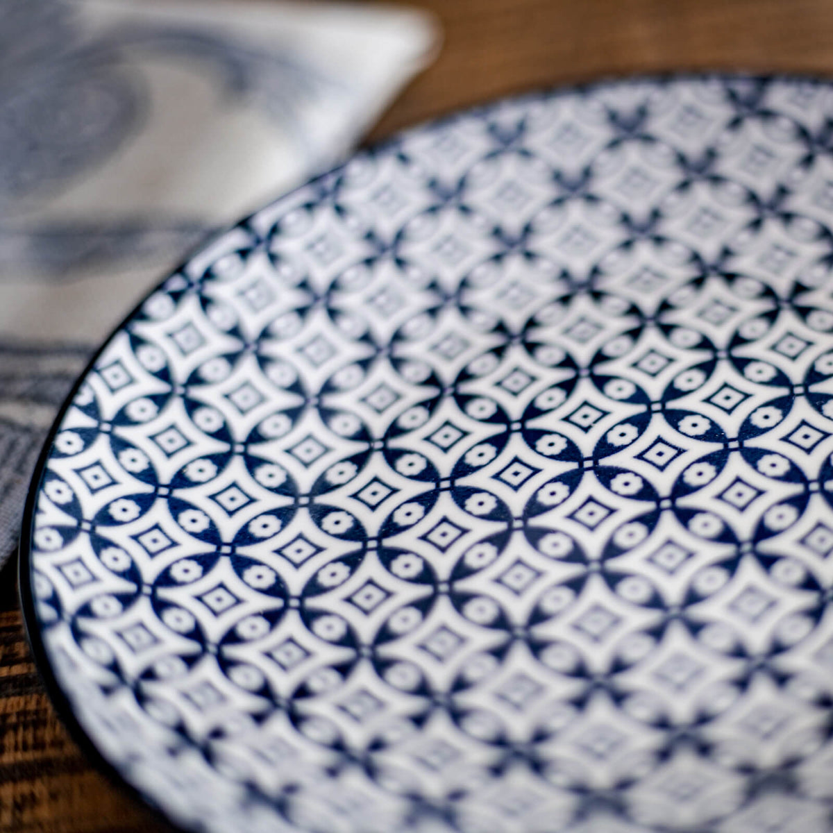 Blue and White Small Vintage Plate