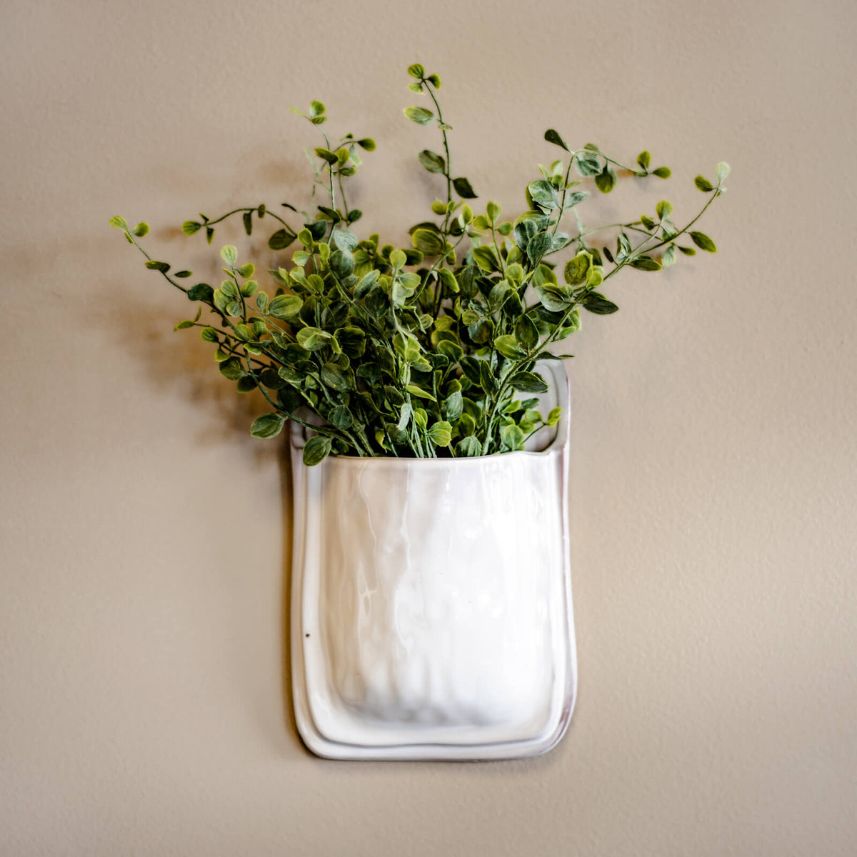 White Wall Planter
