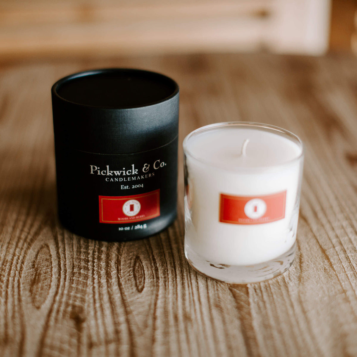 Pickwick & Co. candle called Woodland Berry featuring raspberry, red currant and mulberry