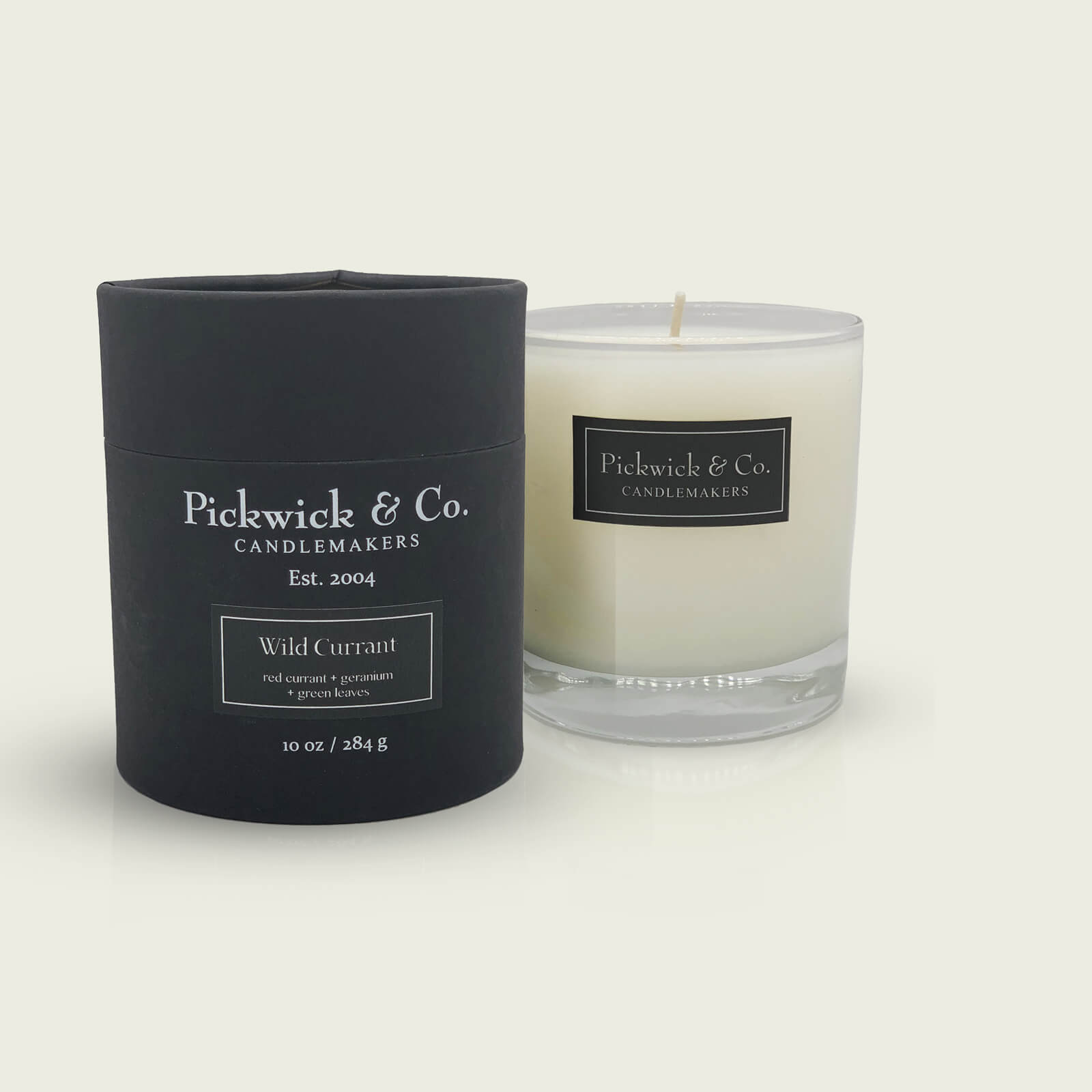 A Pickwick & Co. Candle called Wild Currant with scents of red currant, geranium and green leaves