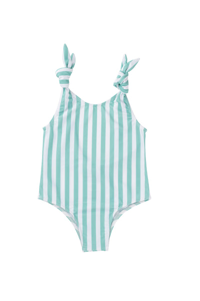 Mabel one piece - mint stripe
