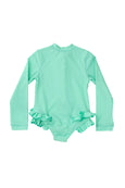 Mara frill one piece - mint